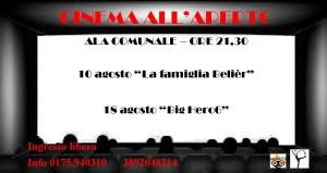 Cinema all'aperto ad Ostana 10 e 18 agosto 2016