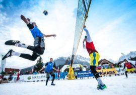 Torneo di snow volley a Sampeyre