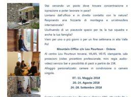 Co-working 2018 ad Ostana