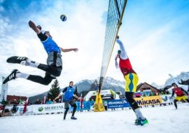 Torneo di snow volley a Sampeyre
