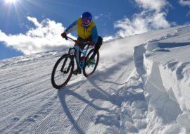 Mountain bike sulla neve