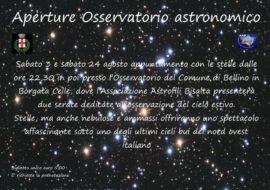 Apertura dell'Osservatorio di Bellino